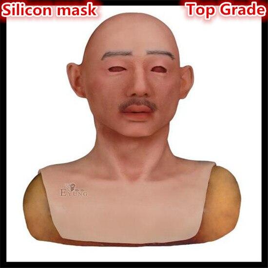Top qualité Halloween masque pour la peau humaine silicone homme masque facial masque en silicone humain masque en silicone partie Cosplay livraison gratuite
