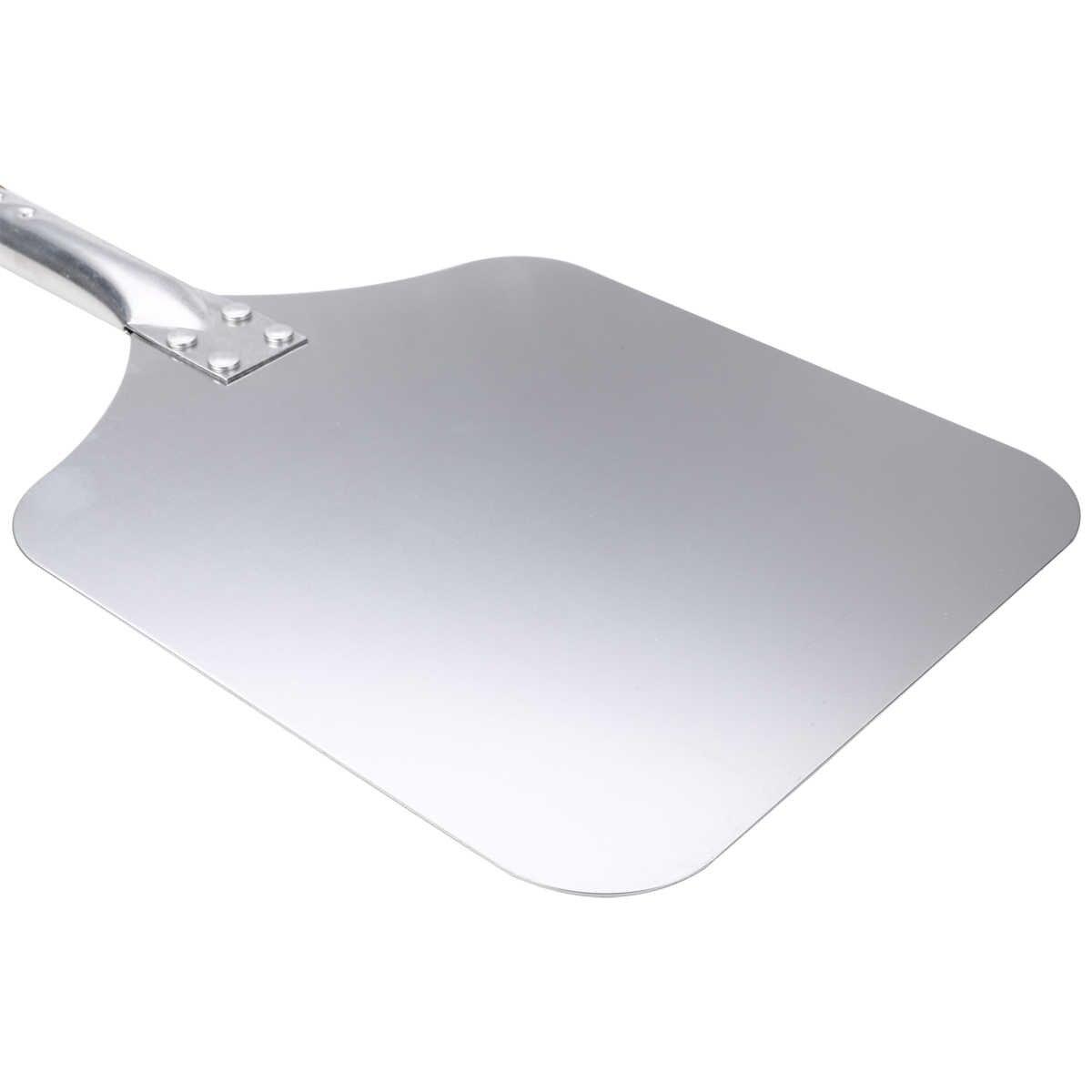 58cm ahşap alüminyum Pizza kabuğu kare mutfak Pizza kaldırma kürek Pizza kek Turner Spatula mutfak pişirme pasta araçları