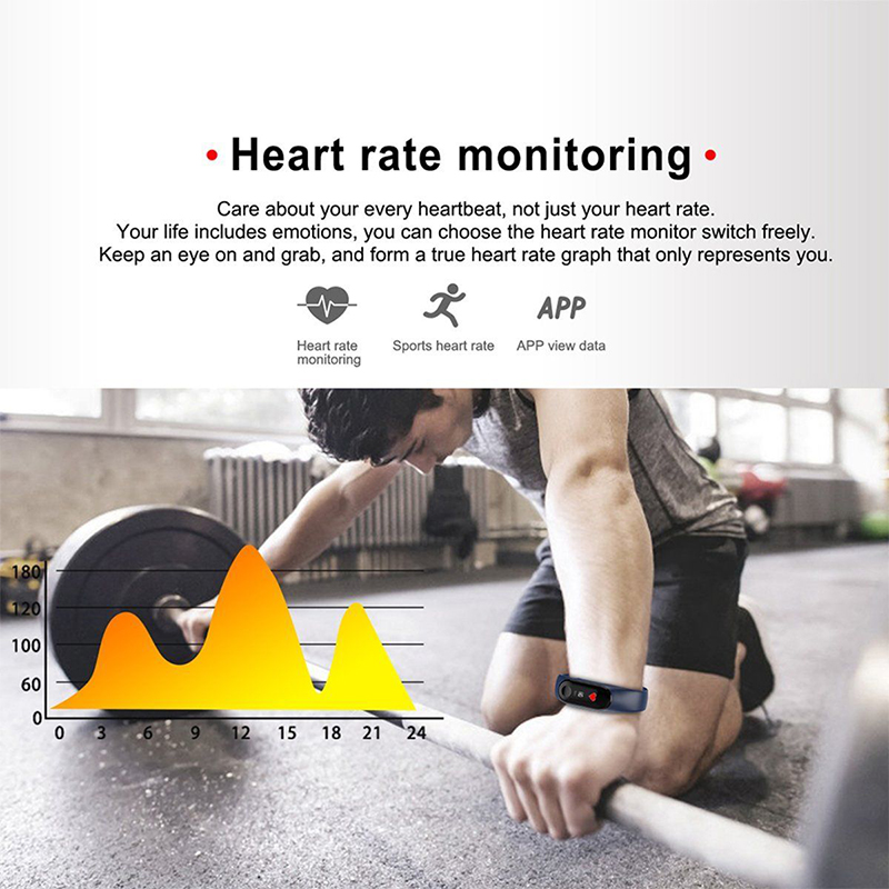 Waterproof Smart Bracelet Color Screen Blood Pressure Fitness Tracker Heart Rate Monitor Smart Sport Band for Android IOS Phone in Smart Wristbands from Consumer Electronics