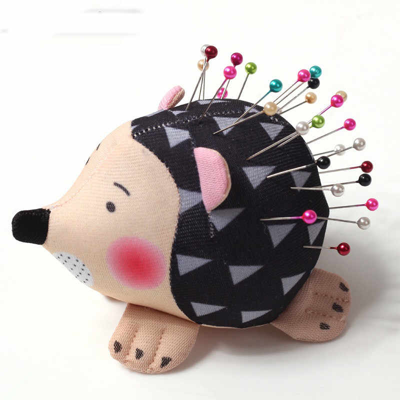 High Quality Soft Fabric Pin Cushion Round Pins Cute Hedgehog Shape Sewing Pin Cushion Quilting Holder Women Sewing Craft Tools