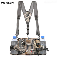 Outdoor Hiking Cycling Waist Bag Tactical Pack with Bottle Multifuntional Sport Shoulder Bags Camouflage Travel Waterproof
