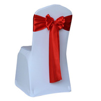 25pcs Lot Wedding Decoration Chair Satin Sashes Bow Tie Satin Chair Band Sashes For Hotel Marriage