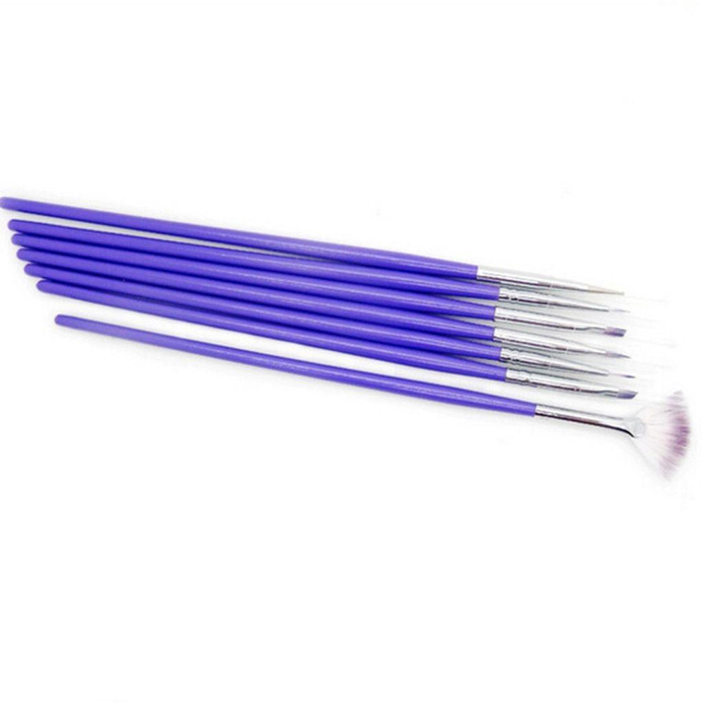 Límite de compra 7 unids Set Nails Nails Art Pen Pen Cepillos de Madera De Caña