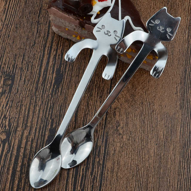 Cat Shaped Stainless Steel Tea Spoons