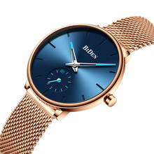 Women Watches Luxury Brand Fashion Minimalist Style Blue Watch Women Casual Rose Gold Mesh Steel Waterproof Clock Montre Femme guou brand shiny diamond watch fashion rose gold watch women watches stainless steel women s watches clock saat montre femme