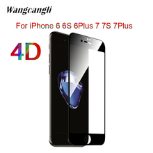 купить 4D Arc Curved Edge Full Cover Tempered Glass For iPhone7 7S 6 6S 6Plus HD Screen Protector For iPhone7 7Plus Protective Film 9H дешево