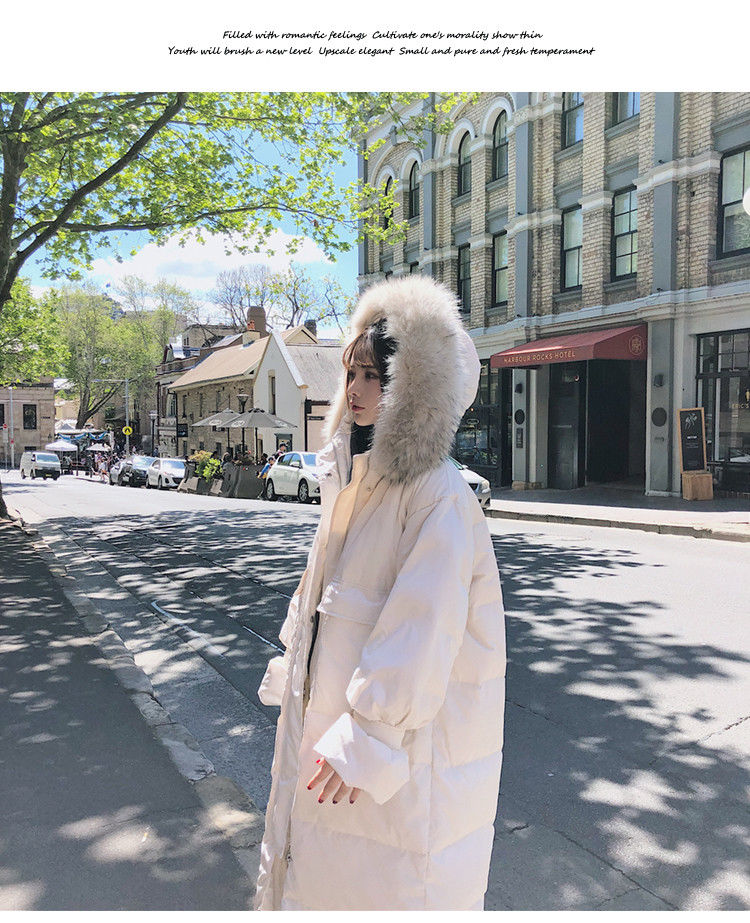 Coat long section plus size women's warm Parker windbreaker hooded S cardigan maternity coats high fashion