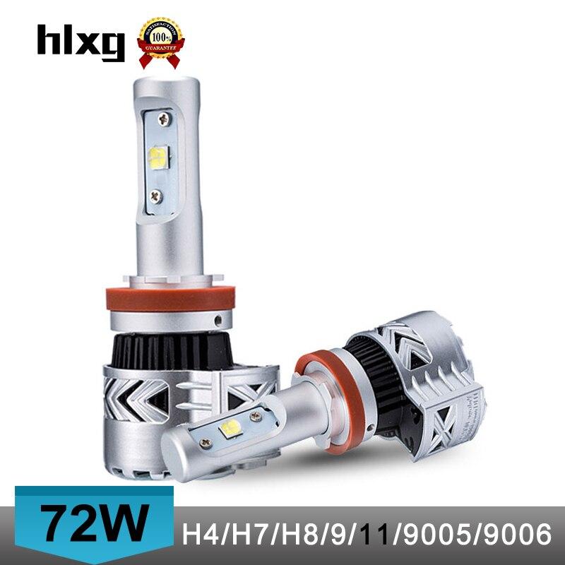 Prix pour 72 W 12000LM Auto H7 LED Phare De Voiture Ampoules Kit Salut/lo Faisceau haute Puissance Led ampoules H7 Projecteur Ampoule Lampe De Voiture 12 V 24 V 2 pcs