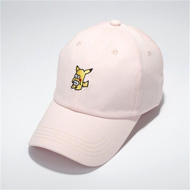 Pokemon Go Pikachu Baseball Cap polo cap Snapback Of cartoon sunhat Sport  for Women Men HipHop Cap Bone for outdoor Harajuku 3