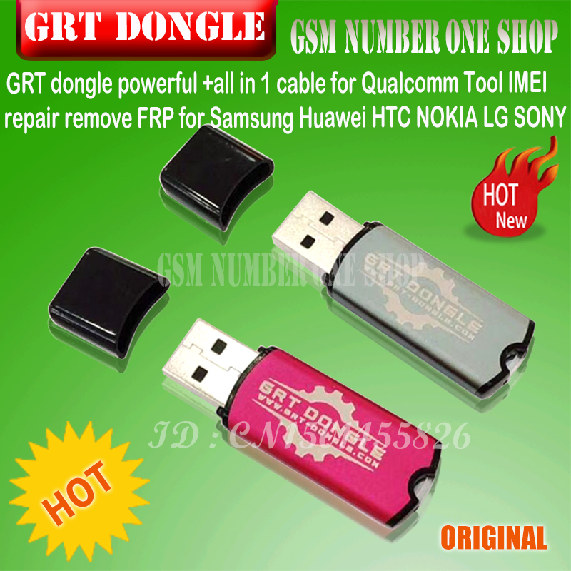 US $99 0 |GRT dongle powerful grt dongle key +all in 1 cable for Qualcomm  Tool IMEI repair remove FRP for Samsung Huawei HTC NOKIA LG SONY-in Telecom