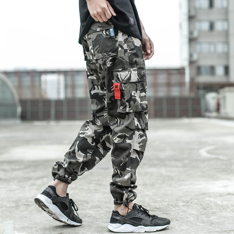 2018 Newly Designer Men   Jeans   Casual Pants High Street Youth Style Jogger Pants Balplein Brand Loose Fit   Jeans   Men Cargo Pants