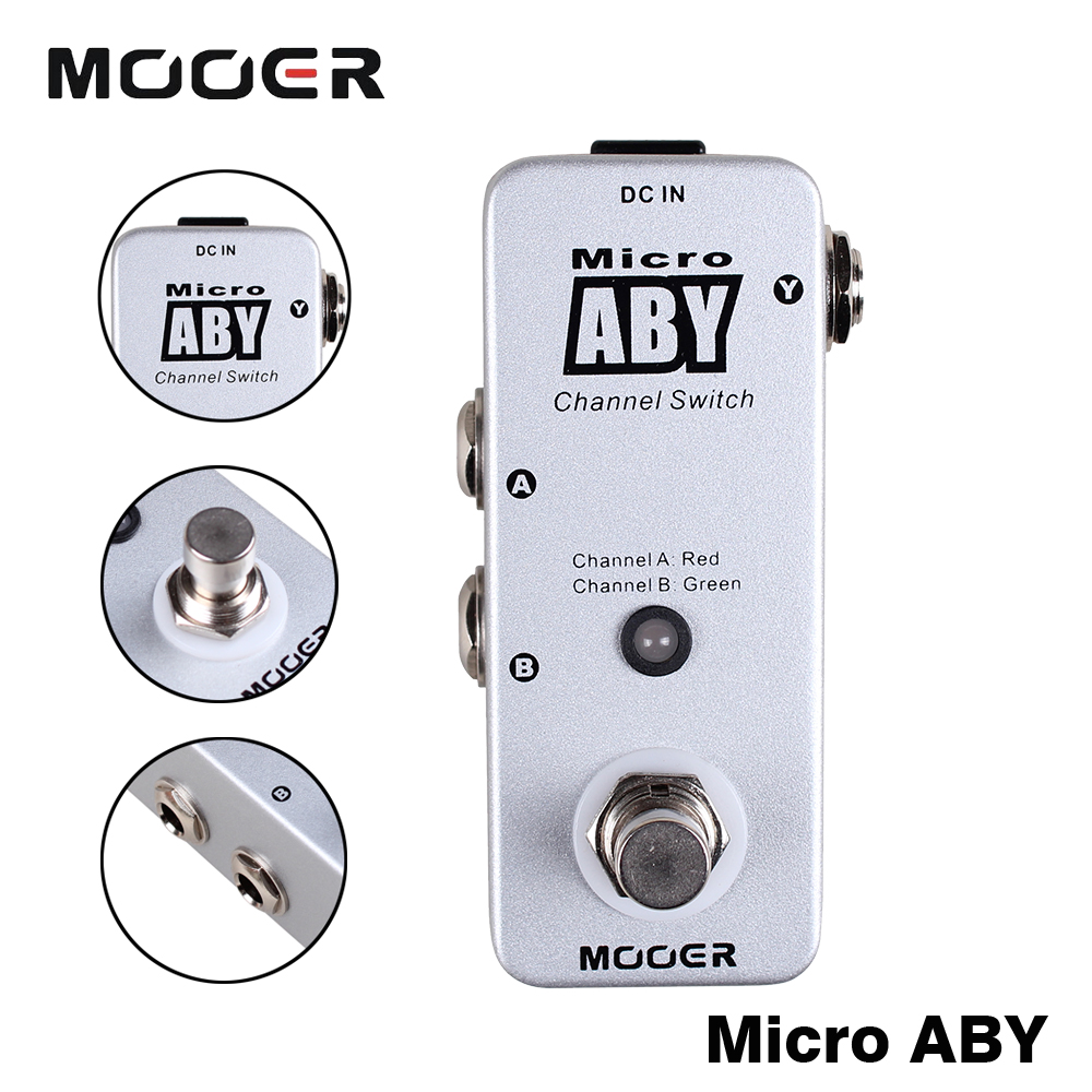 Mooer Micro ABY Signal Path From A/B To Y Or From Y To A/B True Bypass Guitar Effect Pedal Full Metal Shell a817 a817 y to 92