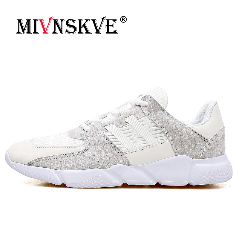 MIVNSKVE 2018 spring/summer men Breathable sports shoes outdoor gray black red Athletic Laces light running shoes male sneakers