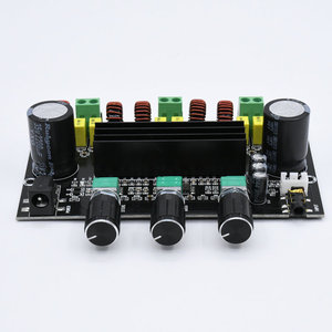 Image 4 - M573 TPA3116 D2 80Wx2 + 100W 2.1 채널 오디오 디지털 전력 증폭기 보드베이스 서브 우퍼 NE5532 프리 앰프