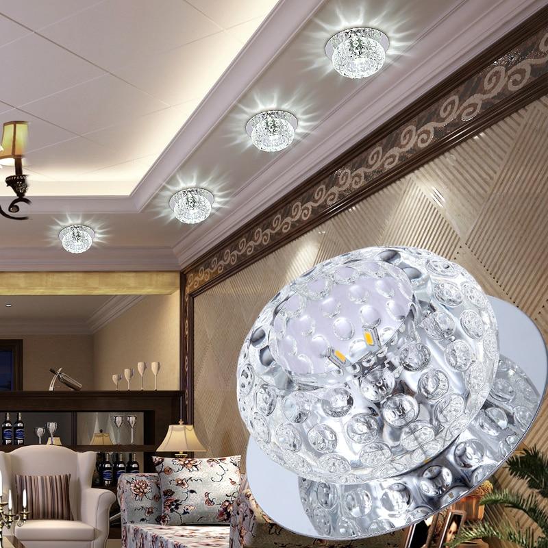creative corridor round led lamp corridor lights Ceiling Lights LED crystal ceiling lamPs lighting modern entrance hall lights
