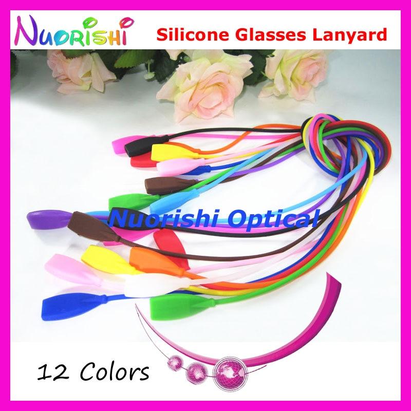 100pcs L610 12 Colors Rectangle Head Design High Quality Elastic Silicone Glasses Sunglasses Long Cords Lanyard