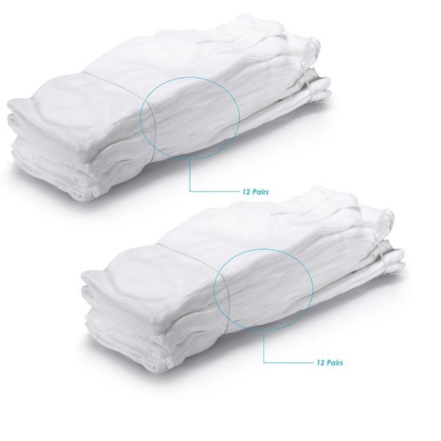 Neewer 24 Pairs 48 Handschuhe 100 Baumwolle Lisle Weiß
