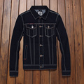 New Fashion Brand Denim Jacket Men's Designer Clothes Casual Black Jeans Coat Slim Fit Cotton Males Tops Plus Size XXXL #TBK007
