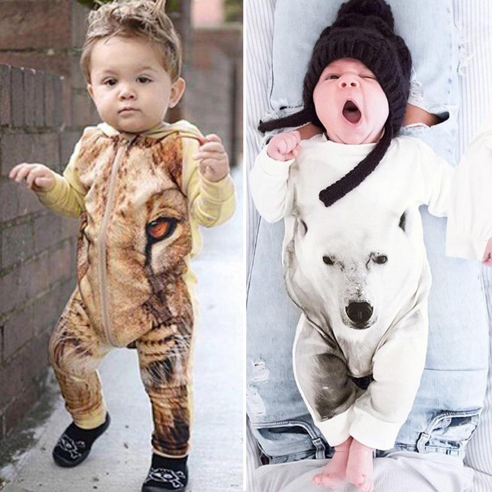 Musim semi Musim Gugur Baru Lahir Anak-anak Bayi Laki-laki Perempuan Bayi  Baju Monyet Jumpsuit Hewan Lengan Panjang Pakaian Anak-anak Pakaian 0989f1285a