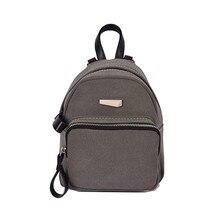 2017 женщин рюкзак Повседневное дамы конфеты школьный стиль Твердые студент мини рюкзак студент Обувь для девочек Mochilas оптовая продажа #6050314