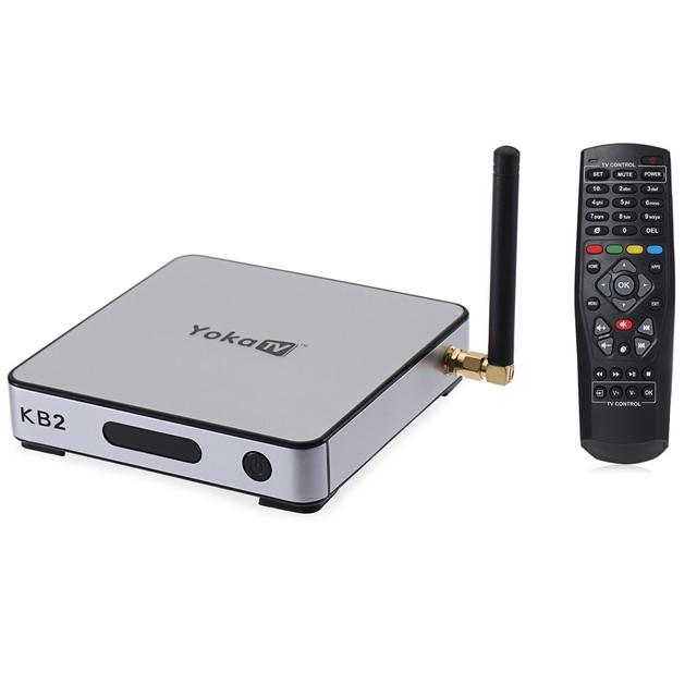 Nuevo Llega Set-top Box YOKA KB2 Inteligente Android 6.0 TV Box Amlogic S912 TV Box Octa Core de Doble Banda WiFi Bluetooth 4.0 2G DDR3