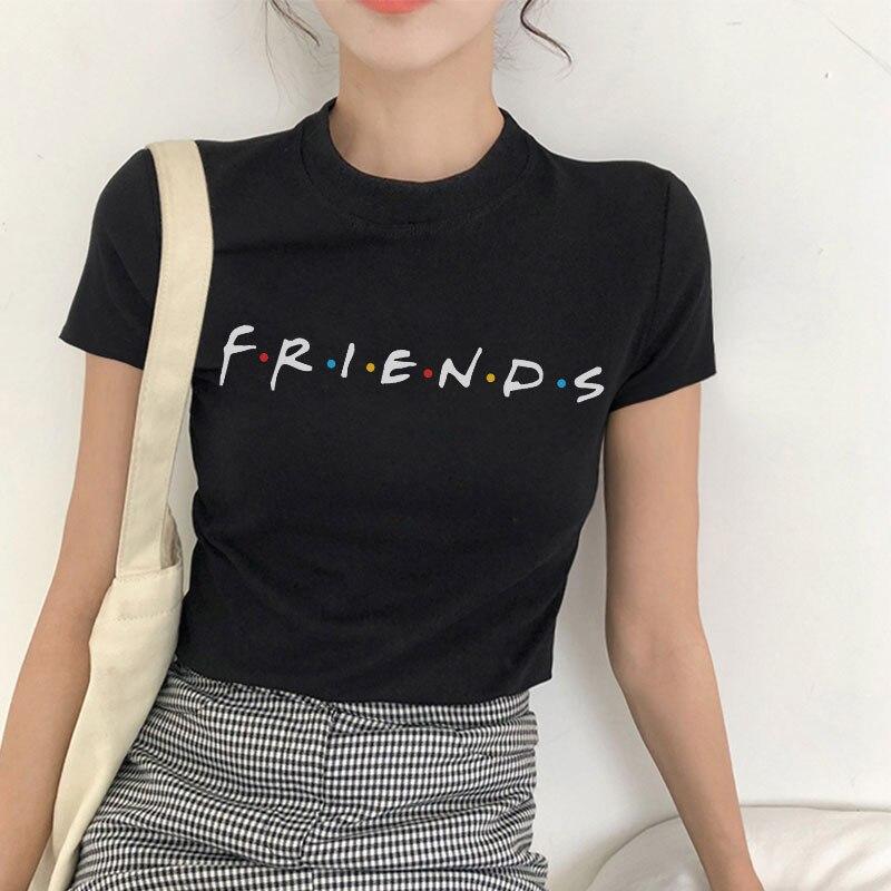 Женская футболка с короткими рукавами Harajuku, летняя футболка с надписью Best Friends Tv в стиле панк, русская Мода, повседневные топы