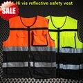 Hombres bicolor de Alta visibilidad de seguridad chaleco reflectante ropa reflectante ropa de trabajo chaleco fluorescente