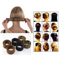 1pcs fashion Hairagami Bun Tail Hairagami Fashion Black Leopard Women Styling Tools hairband Hairpin Hair Rolls