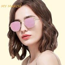 MYMARCH Small Round Mirror Sunglasses Women Brand Designer Alloy Frame Sun Glasses Luxury Female Glasses Oculos Gafas De Sol все цены