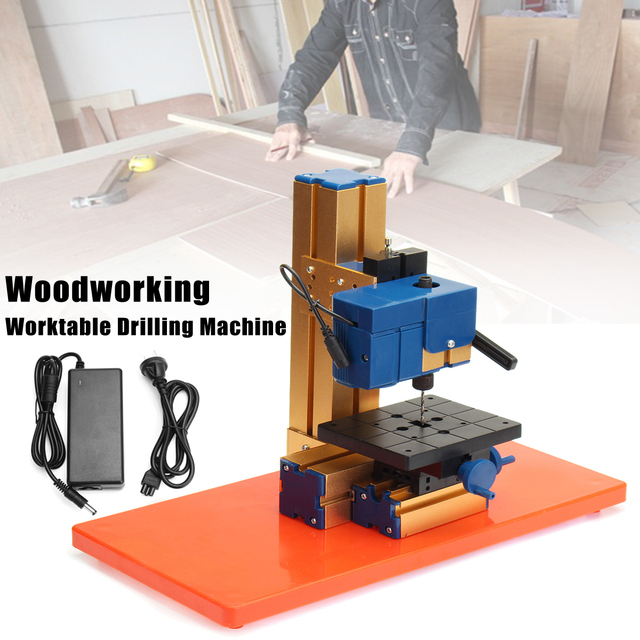 24w Ac100 240v Mini Wood Lathe Diy Woodworking Worktable Drilling