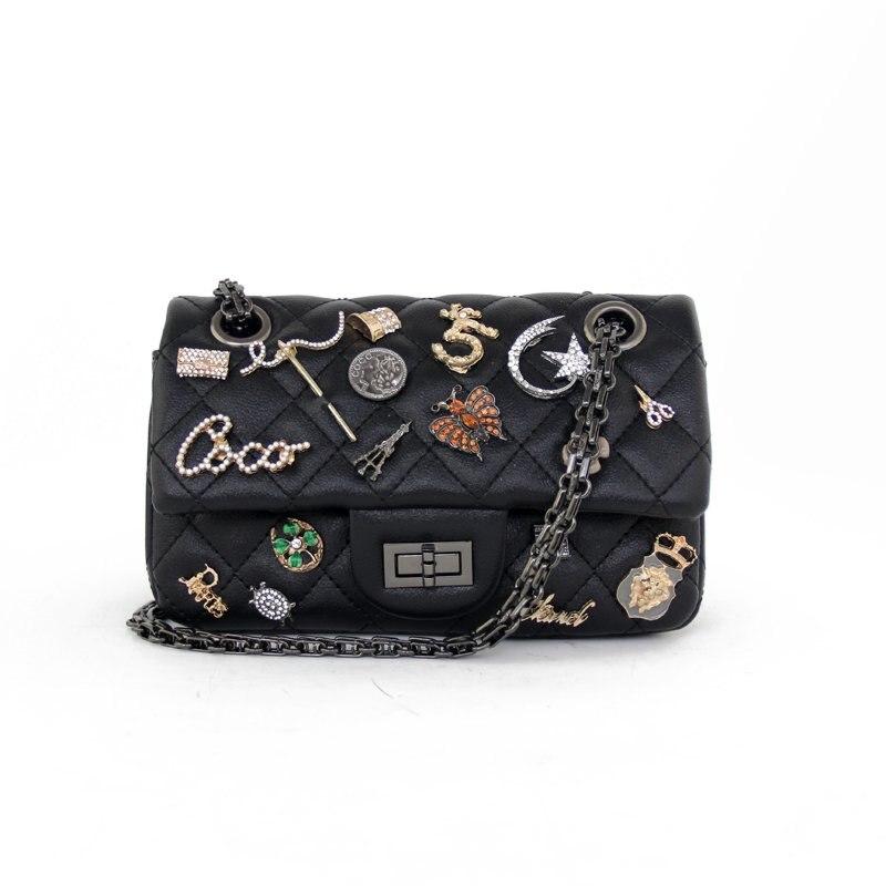 Alieme мини Сумки дизайнер цепи плеча сумку Роскошные Сумки Для женщин Сумки дизайнер Для женщин сумки Crossbody Вышивка Крестом Пакет Bolso