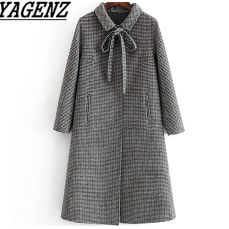 2019 hiver femmes Plaid Double face cachemire laine veste Slim dames Long pardessus de haute qualité femme laine manteau marque vêtements