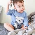 Детские Свитер Для Девочки Мальчика Одежды 2017 Весна Antumn Случайные Дети Трикотажа 3D Печати Медведь Свитер Перемычки Милые Дети Свитера
