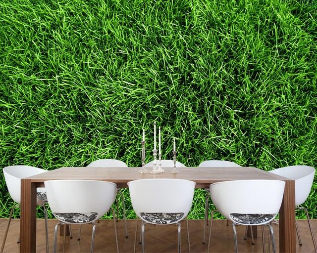 3d Sfondi Verde Campo Di Erba Naturale Paesaggio Murale Per