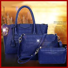 2015 de alto grado de cuero mujer bolsos de hombro bolsos mujeres mensajero retro del estilo moda marca bolsas bolsos bolsas 3 unids/set