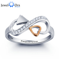 Personalized Love Promise Ring 925 Sterling Silver Heart Arrow Ring Valentine S Day Gift JewelOra RI101807