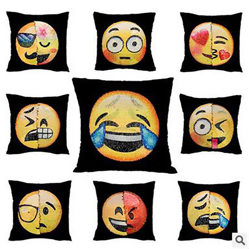 Creative Home Textile Emoji Cushion Decorative Chair Pillows Cartoon Throw Pillows Cafe Home Decor Car Sofa Office Cushion Cove