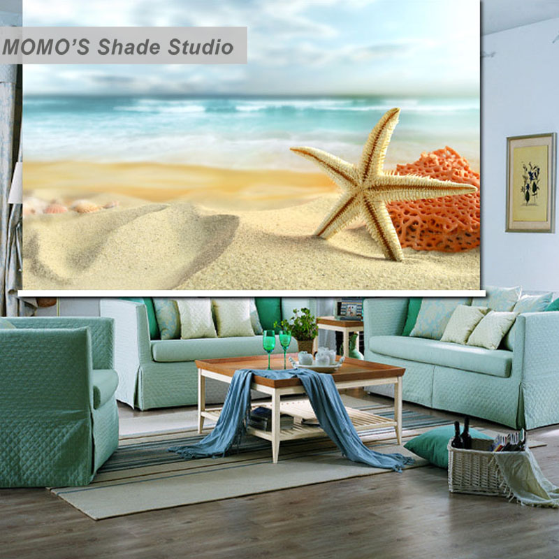 MOMO Seaside Window Curtains Roller Shades Blinds Thermal Insulated Blackout Fabric Custom Size, Alice 61-66MOMO Seaside Window Curtains Roller Shades Blinds Thermal Insulated Blackout Fabric Custom Size, Alice 61-66