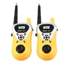 2pcs Intercom Electronic Walkie Talkie Toy Kid Child Mini Handheld Phone Toys Portable Two-Way radio interphone wireless Safe