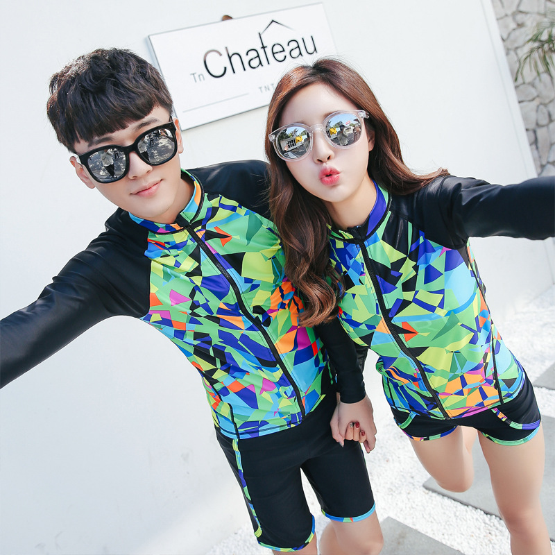Men & Women Couples Set Surfing Diving Swimming Boating Rafting Dress Up Dry Wear long sleeve T-shirt
