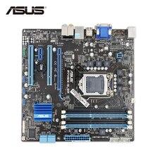 ASUS P7H55-M DP оригинальный использоваться для настольных ПК H55 разъем LGA 1156 i3 i5 i7 DDR3 16 г uatx распродажа