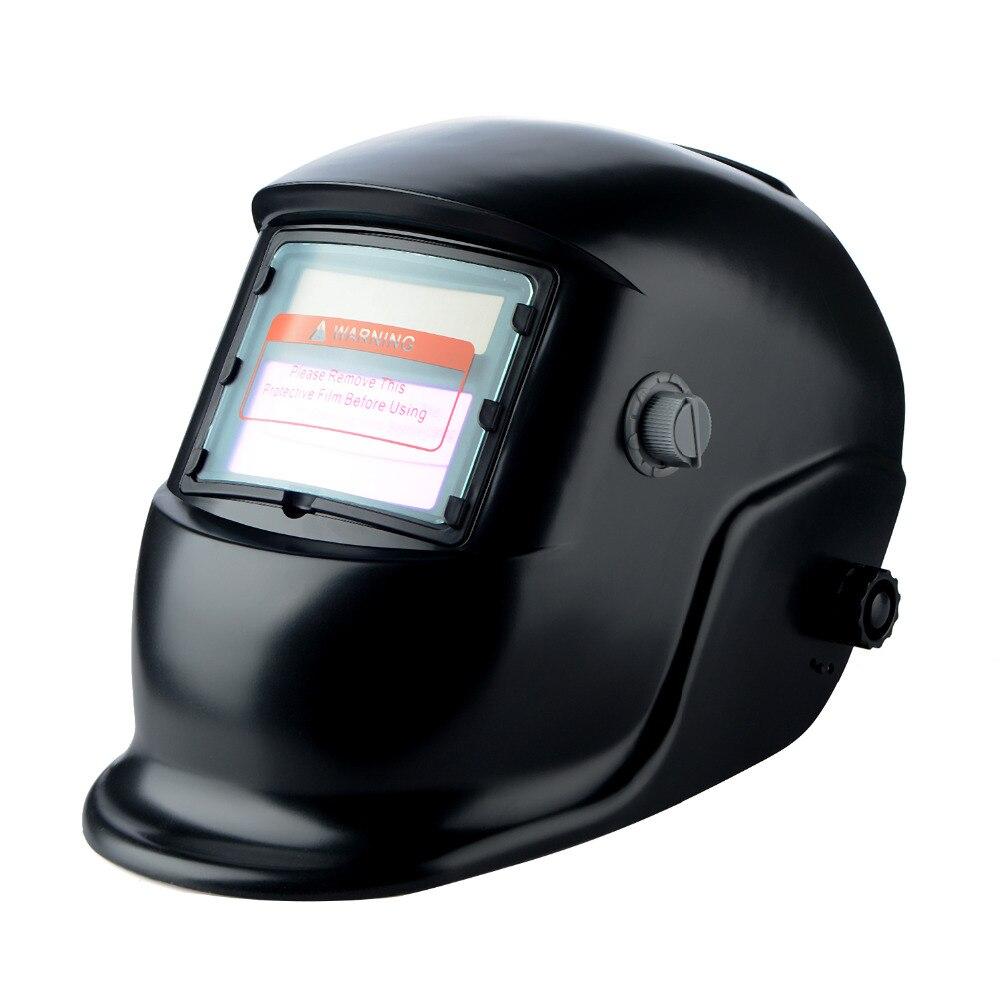 1 Piece Black Professional Auto Darkening Welding Helmet Welding Welder Mask Lenses Solar Powered Cap For Soldering Work недорго, оригинальная цена