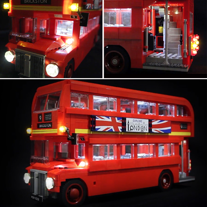 LED Light Kit ONLY For Lego 10258 Technic Series The London Bus Lighting Bricks