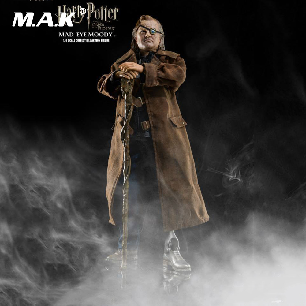 1/6 Harry Potter Order of the Pheonix MAD-EYE MOODY Full Set Action Figure 12 Collectible Action Figures for Fans Birthday Gift 24 pcs set the elves papa smurfette clumsy figures elves papa action figure for children toys dolls blue color birthday gift