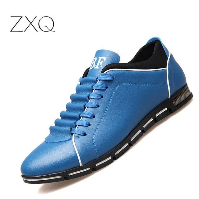 Plus Size 38-48 Uomini scarpe Casual Moda Scarpe Comode Scarpe di Cuoio Per  Gli ab3d63d780a