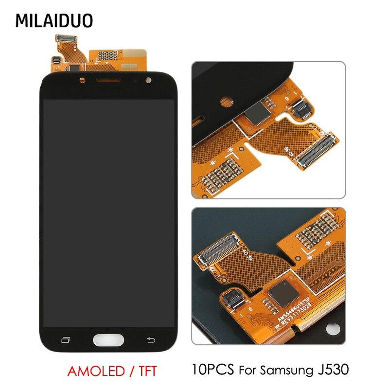 10 PCS D'origine AMOLED/TFT LCD Pour SAMSUNG GALAXY J5 Pro 2017 J530 J530F J530FN SM-J530F OLED Tactile Écran digitizer Assemblée