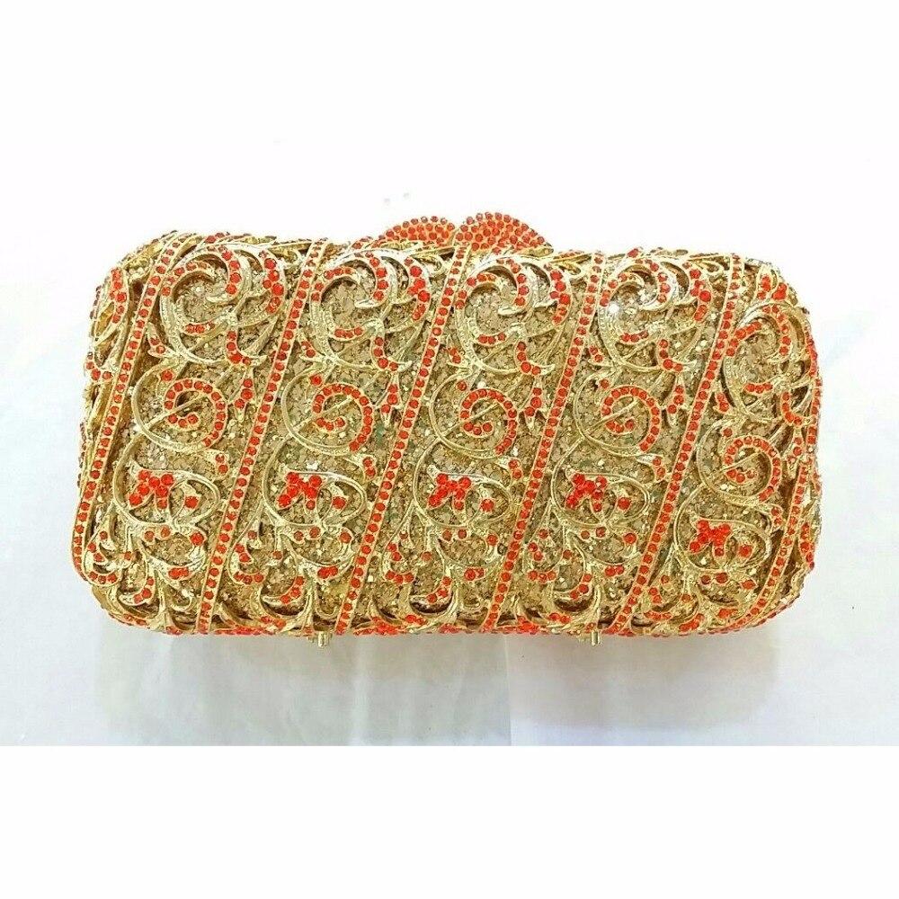 ФОТО 8315C Crystal Lady Fashion Wedding Bridal Party Night hollow Metal Evening purse clutch bag box handbag case
