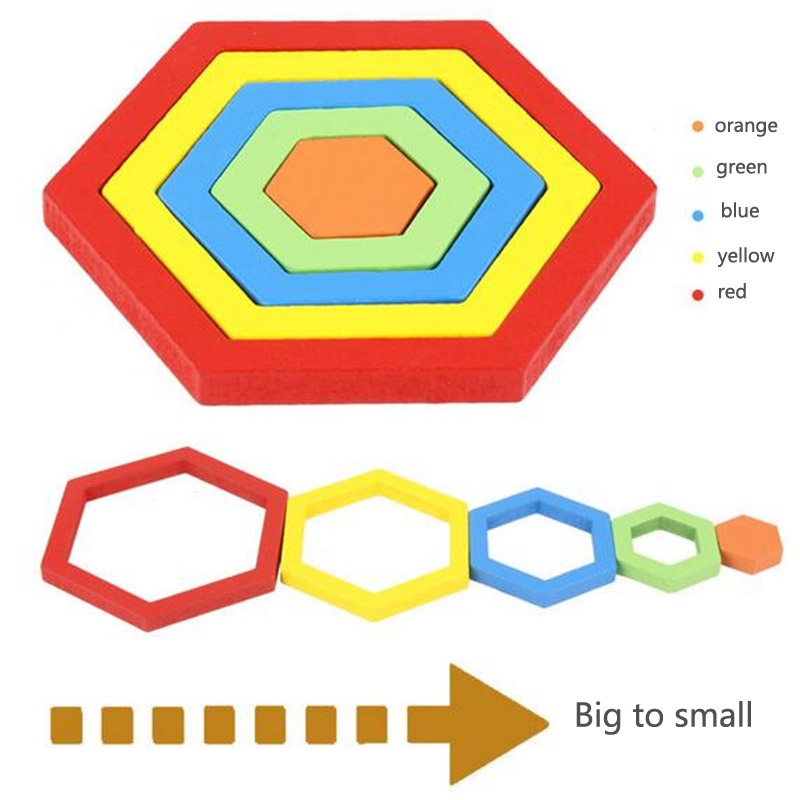Image 2 - Shape Cognition Board Children's Geometry Jigsaw Puzzle Wooden Toys Kids Educational Toy Baby Cognition Learning Matching Toy-in Puzzles from Toys & Hobbies