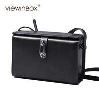 Viewinbox פיצול עור בקר קטן דש התיק Mini כיכר תיק תיק שליח גברת אופנה באיכות גבוהה מותג מפורסם