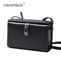 Viewinbox Famous Brand High Quality Solid Cattle Leather Small Joker Setting Square Bag Lady Messenger Bag